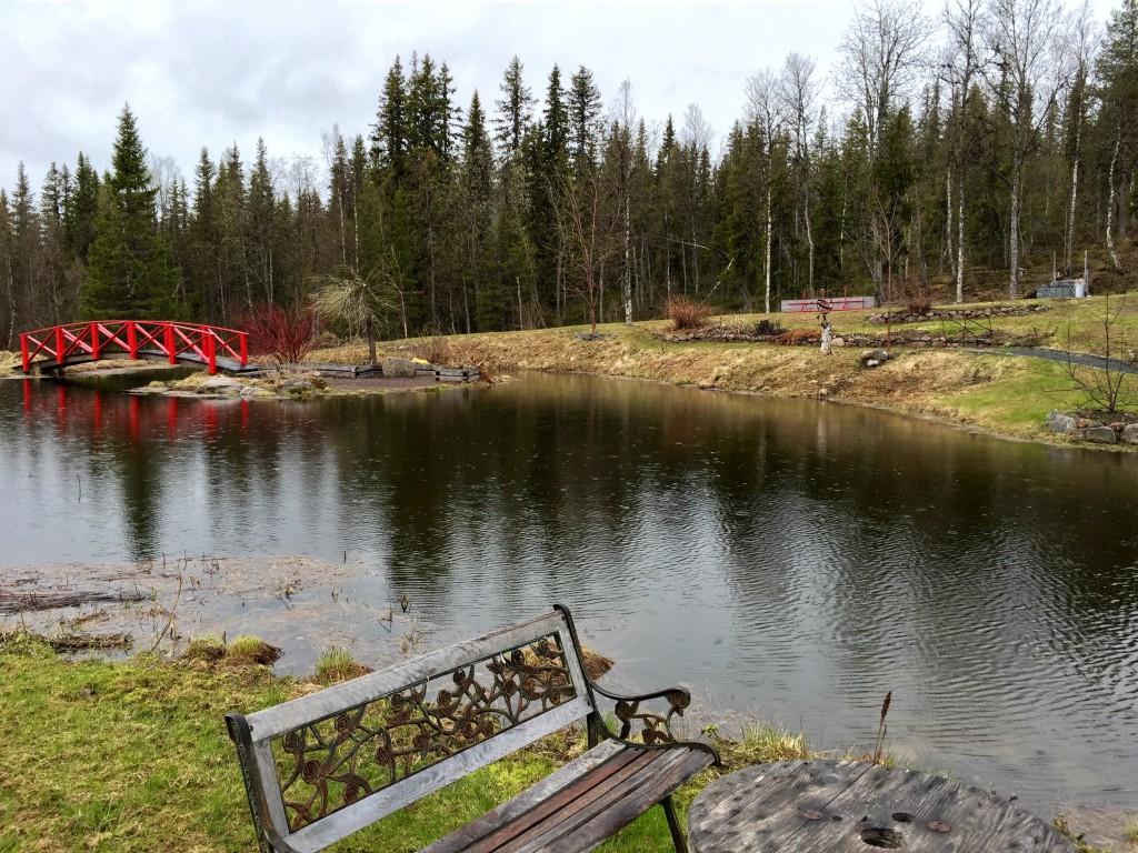 Skönt i alla fall att se dammen full i vatten.